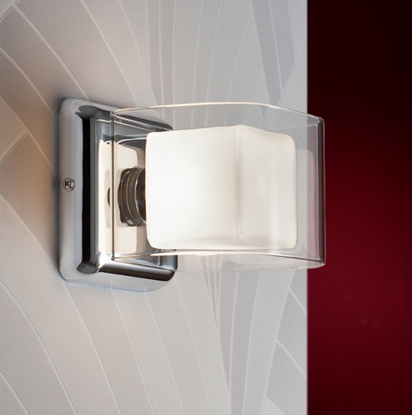 Cube Wall Lamp 1 L G9 28W Chrome