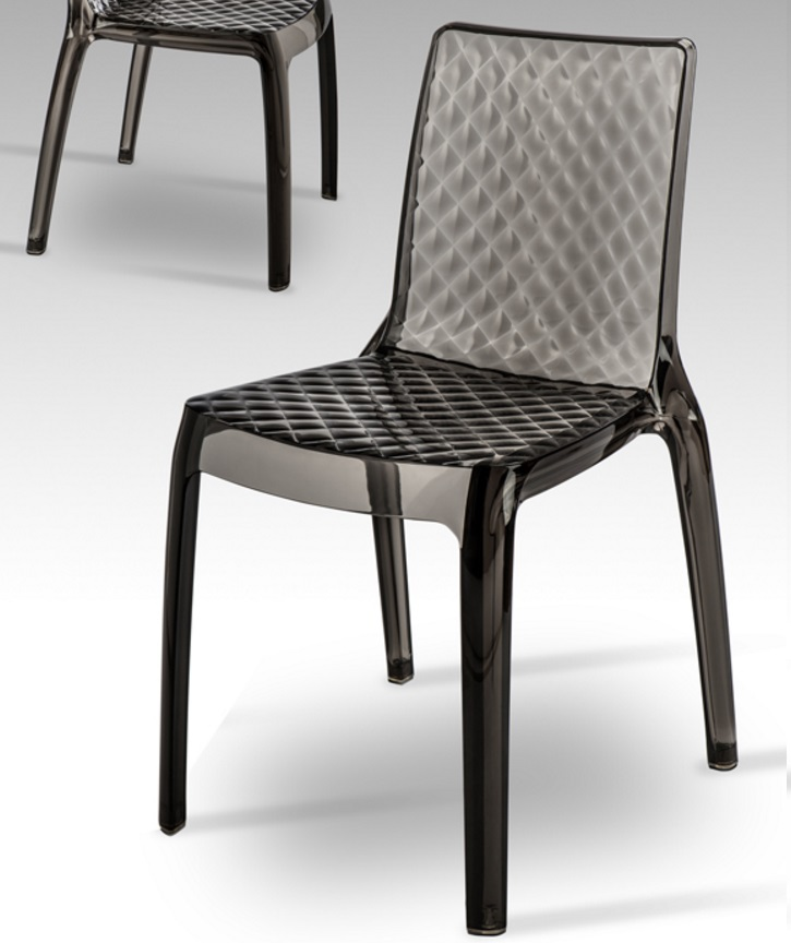 Dana chair humo 83x43cm (min. 2 uds) Transparent