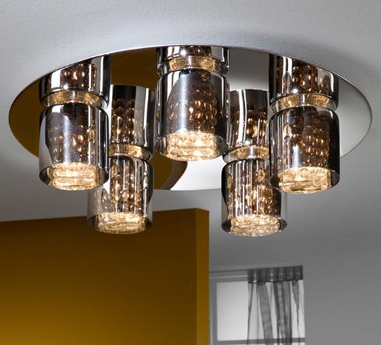 Denise ceiling lamp Round Chrome 5L G9