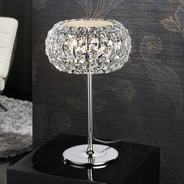 Diamond Table Lamp Small 3 G9 LED 4W Chrome/Copens Glass