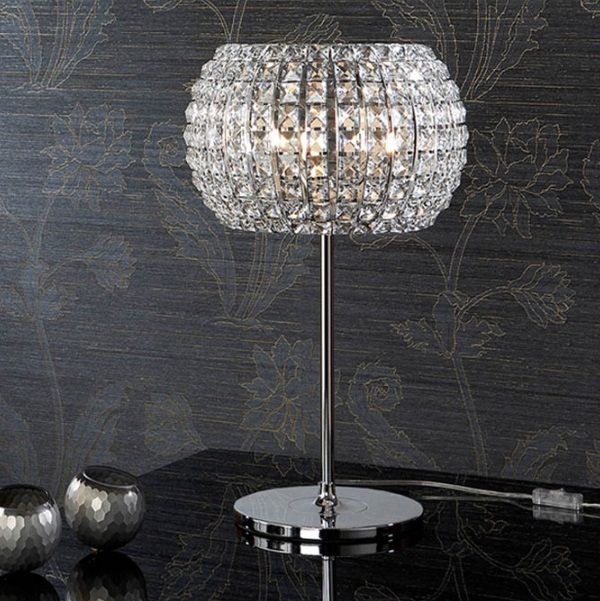Diamond Lampe de table Grand 52x33cm 3xG9 LED 4W - Chrome