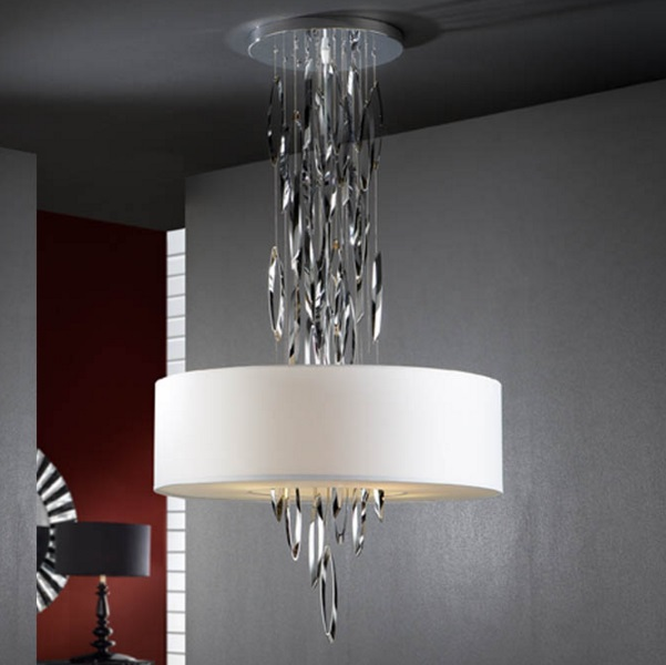 Domo Pendant Lamp Ø60cm 4xE14 LED 4W bright chrome
