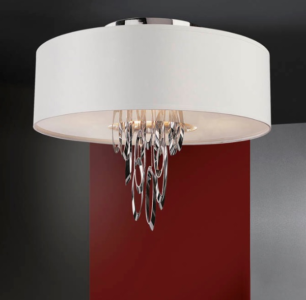 Domo ceiling lamp Ø55 4xE14 LED 4W Chrome Shiny