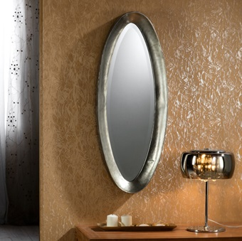Ebla espejo pequeño 38,2x96,5cm Plata