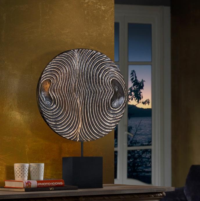 Eros Medallón 65x40cm Holz tallada zu mano - Schwarz