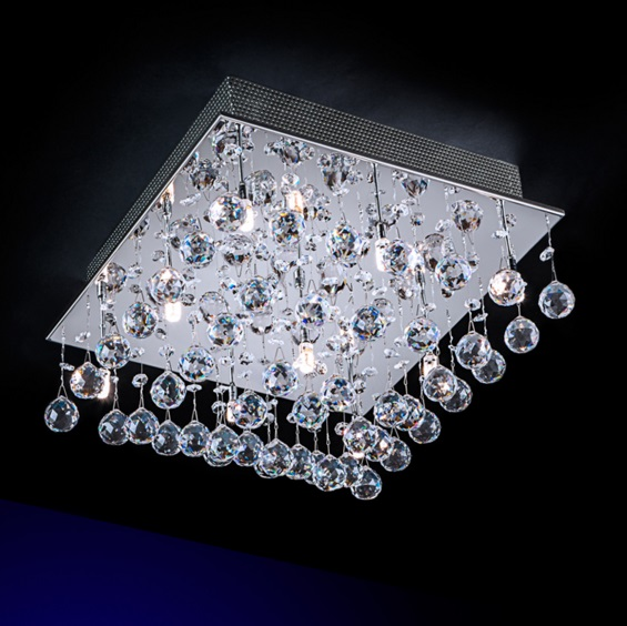 Estratos ceiling lamp Square 9xG9 LED 4W - Chrome