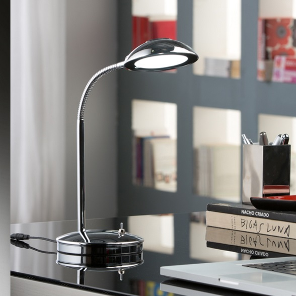 Flexo Table Lamp 5W LED Chrome