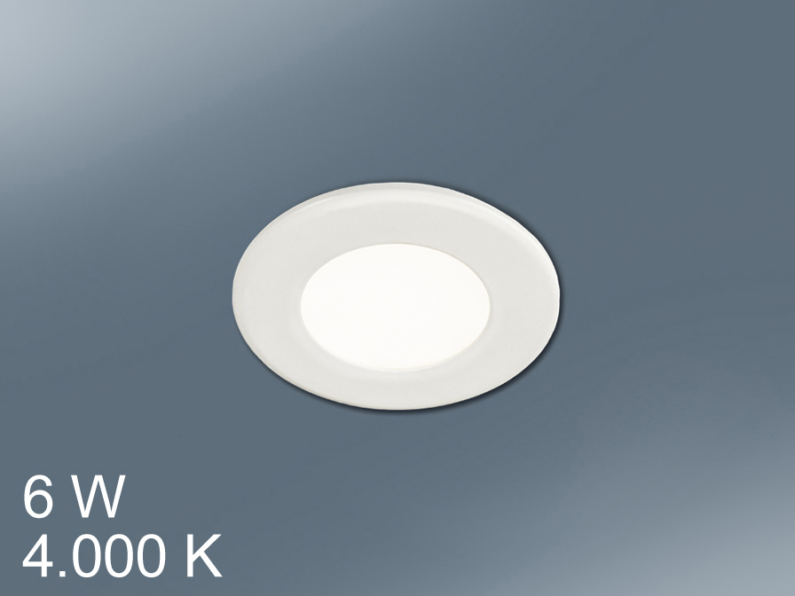 Foco Round + LED 6W light white
