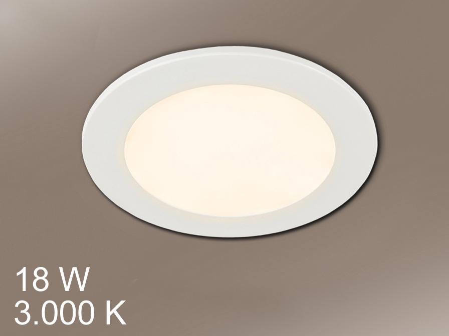 Foco Round + LED 18W light white