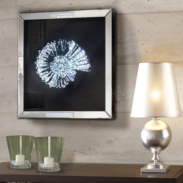 Fosil Cuadro mirror 60x60cm Clear lacquered glass