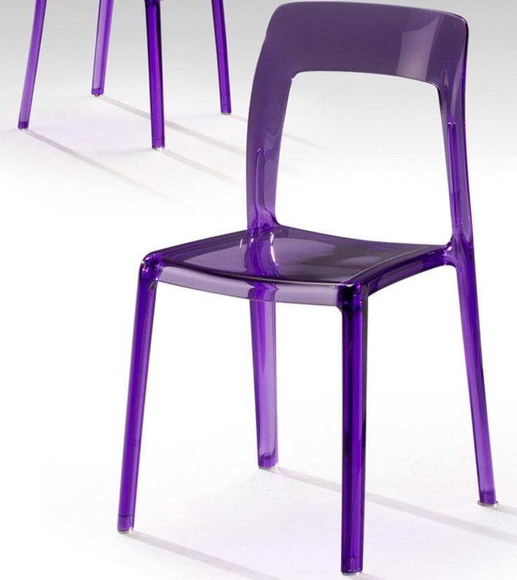 Lina silla púrpura Transparente 84x46cm