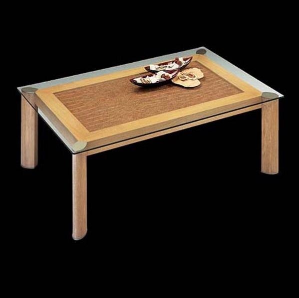 Loto coffee table rectangular white