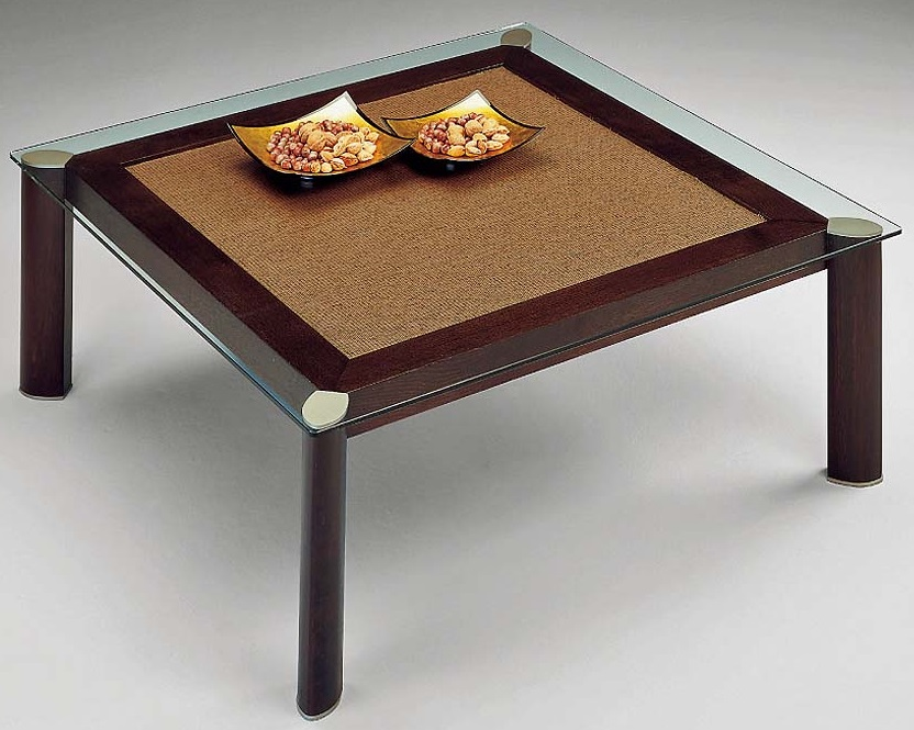Loto coffee table square wengue