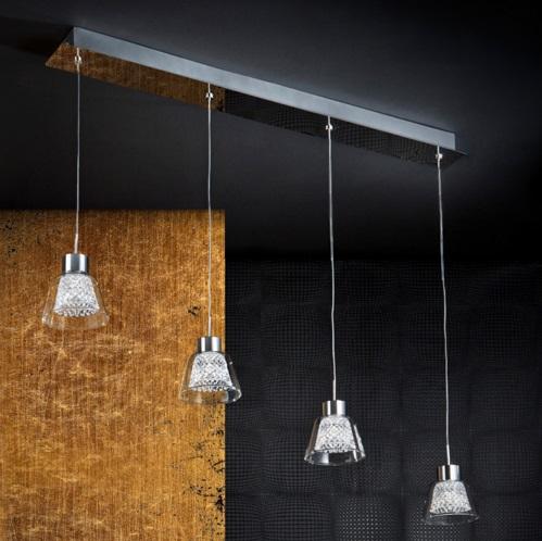 Lucia Lámpara Colgante 4x20W LED Cromo