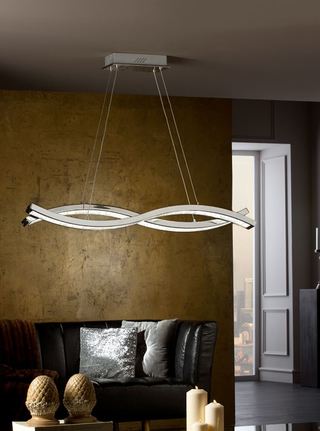 Marin Lamp Pendant Lamp 11x98cm LED 58W - Chrome
