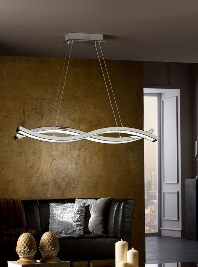 Marin Lámpara Colgante 11x98cm LED 58W - Cromo