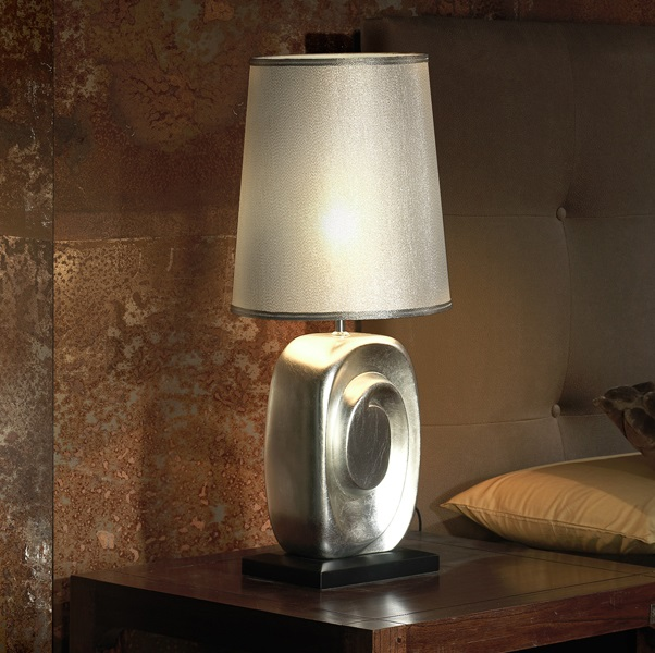 Minos Table Lamp 60cm E27 20W Silver