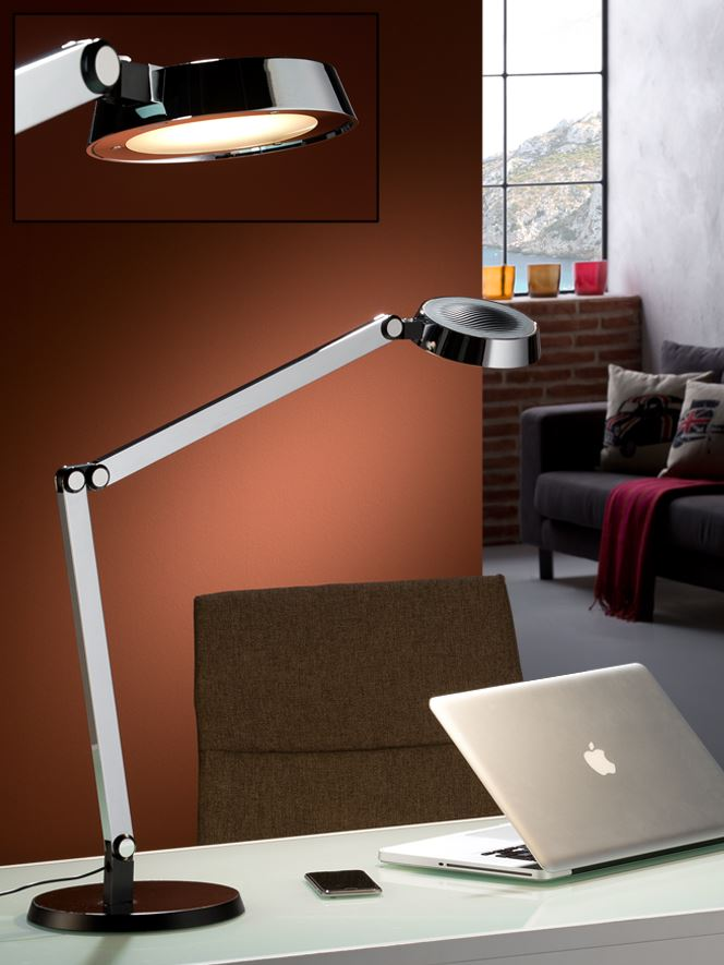 Naria Table Lamp of estudio 68x67cm LED 10W dimmable - Chrome and Black