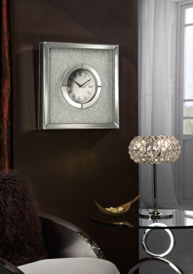 Niza Reloj de Pared 40,5x40,5cm - espejos biselados y Cristal