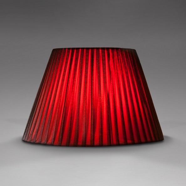 Accessory lampshade round plisada red 43 diámetro
