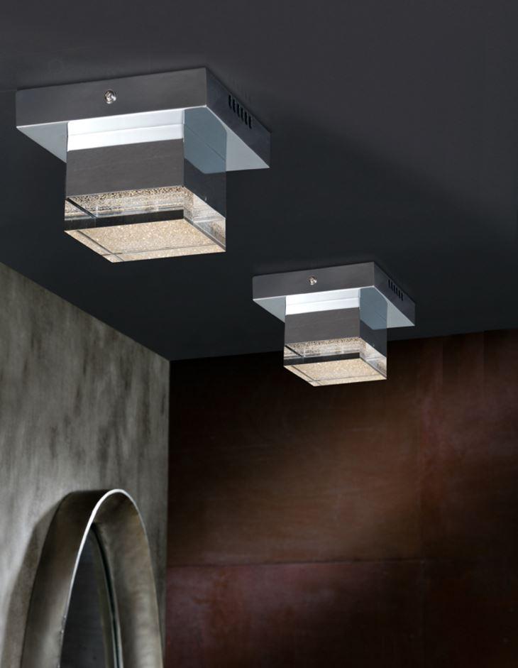 Prisma Plafón 10,5x14cm LED 4W Acrílico transparente