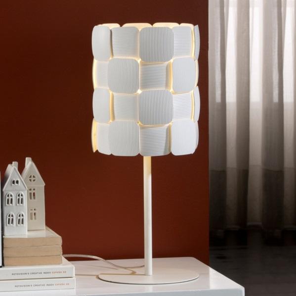 Quios Sobremesa E27 LED Blanco roto mate