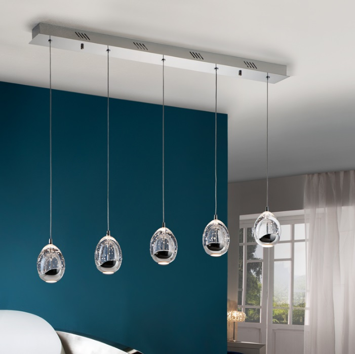 Rocio Lampe Suspension 5xLED 25w - Chrome