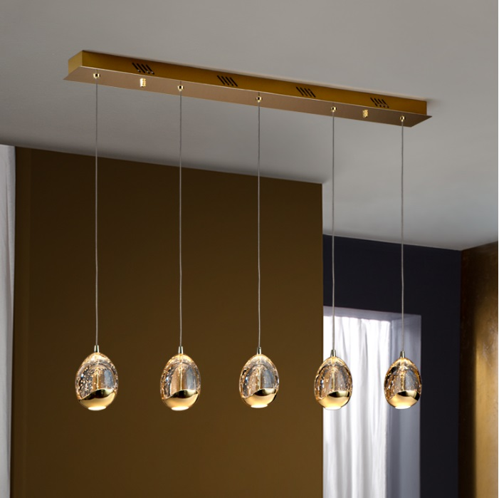 Rocio Lampe Suspension 14x96cm 5xLED 25w - Or