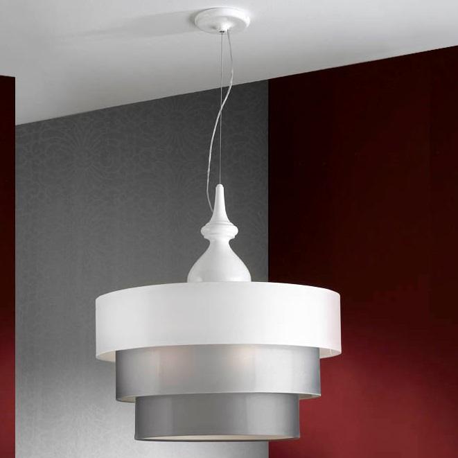 Sophia Pendant Lamp Complete 3L white 3 E27 LED 10W