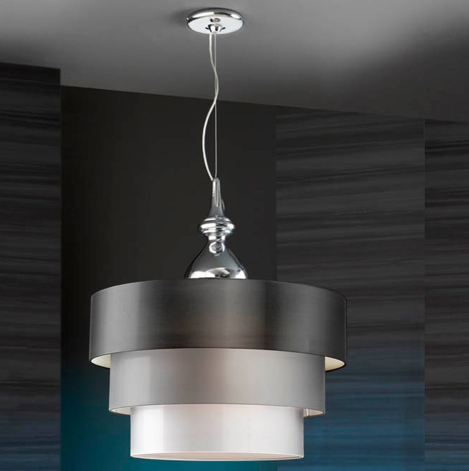 Sophia Pendant Lamp Complete 3L Chrome 3 E27 LED 10W