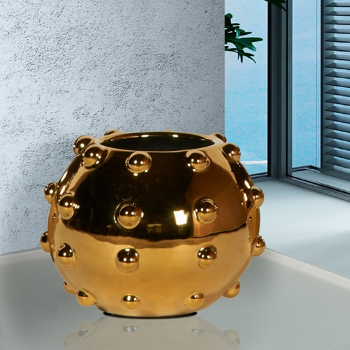 Sunset planter Medium 18x22cm - Metallic Gold