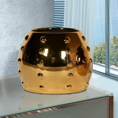Sunset Macetero Grande 26x33,5cm - Metalizado Oro