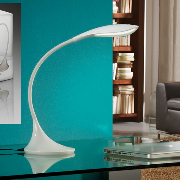 Swan Lampe de table LED 5.5W blanc