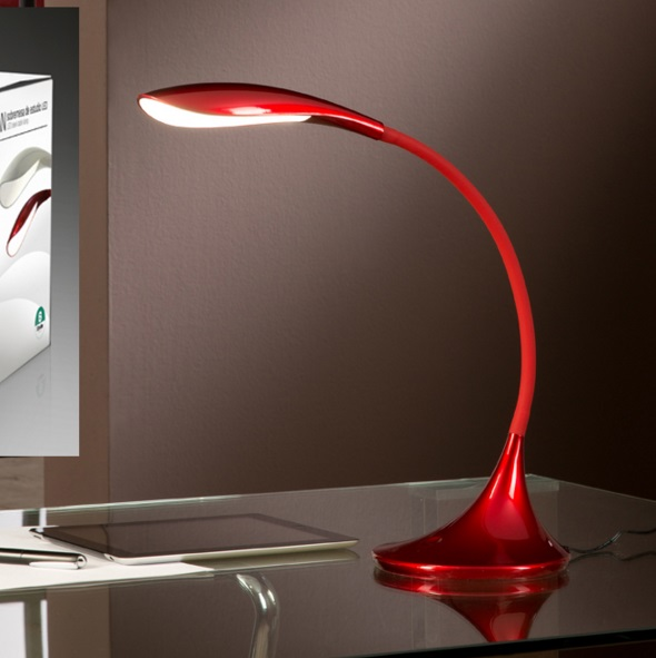 Swan Table Lamp LED 5.5W Red