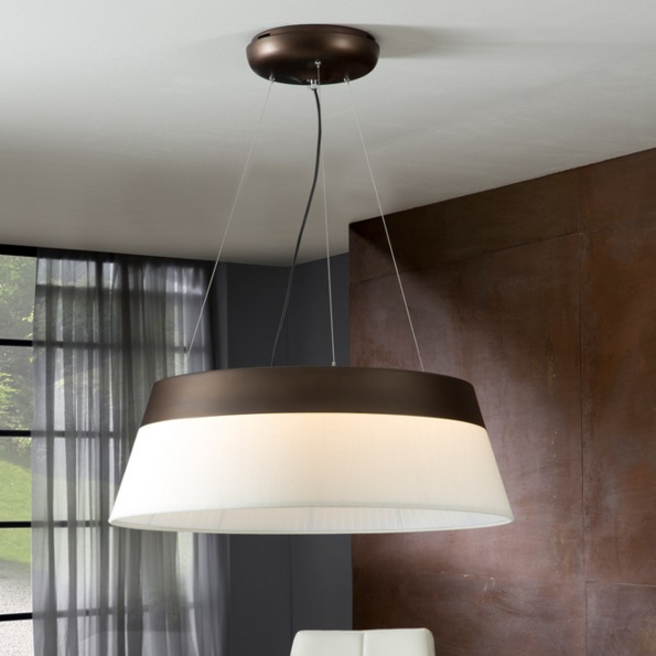 Swing Pendant Lamp marrón 69 diámeter LED