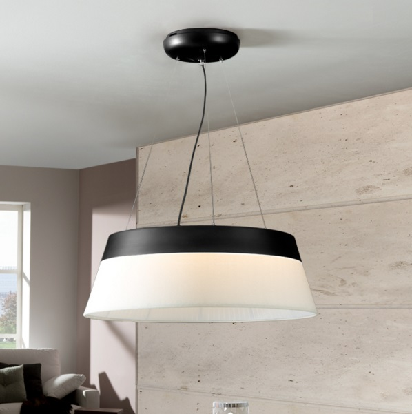 Swing Pendant Lamp Black 69 diámeter LED