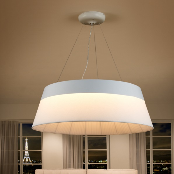 Swing Pendant Lamp white 100 diámeter LED