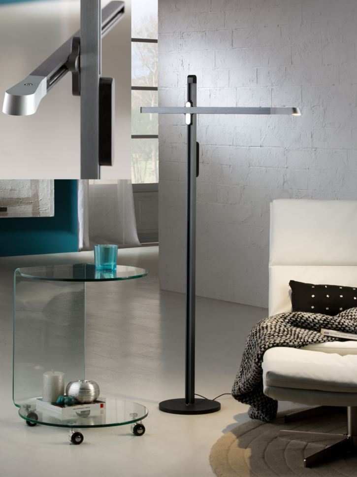 Tecton Floor Lamp 140x79cm LED 6W dimmable - Grey zafiro