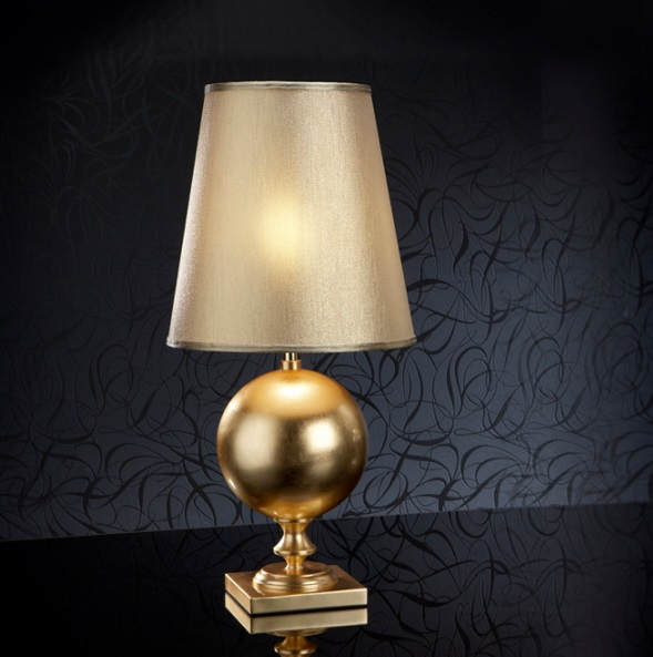 Terra Table Lamp Pan Gold
