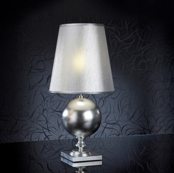 Terra Table Lamp Pan Silver