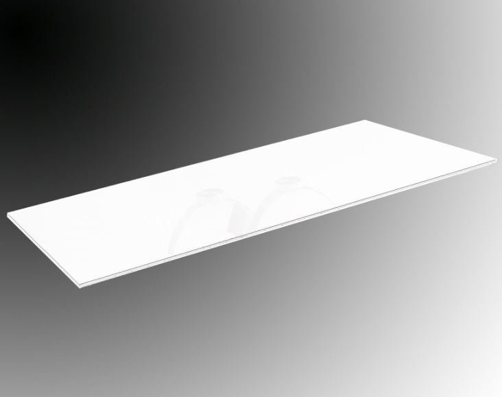 Accessory Glass Pintado white 90x160 Temp.