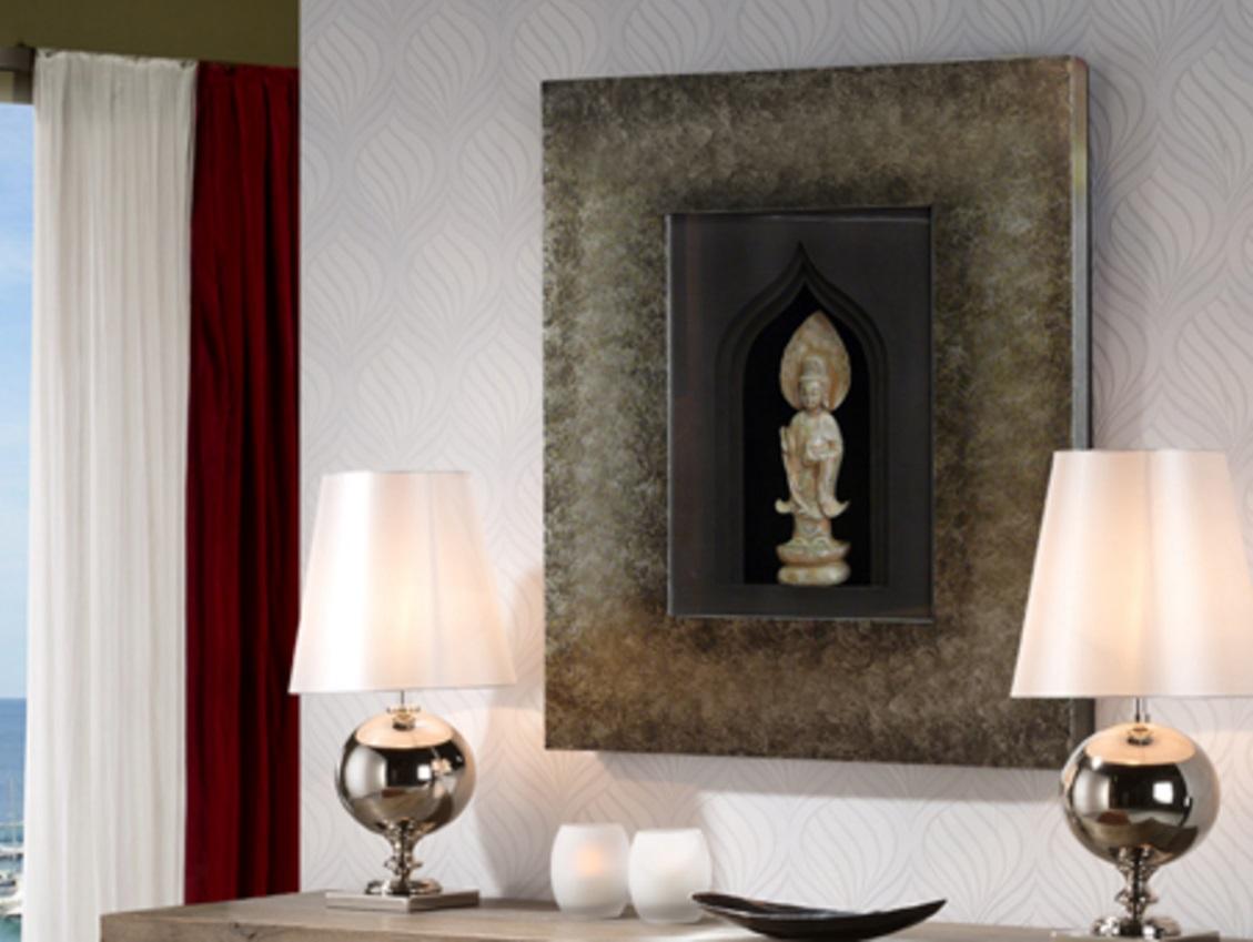 Zenda bassorilievo 98x80cm - Tono pietra Quadro argento antico