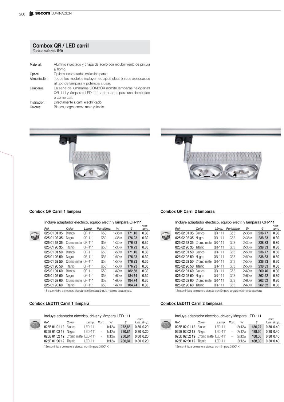 Combox QR / LED Carril 025029035