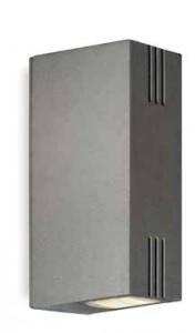 Fusion LED Aplique 2x1W 4000k IP54 Aluminio