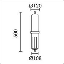 Slot candle Accessory for acople ø121mm Grey Aluminium