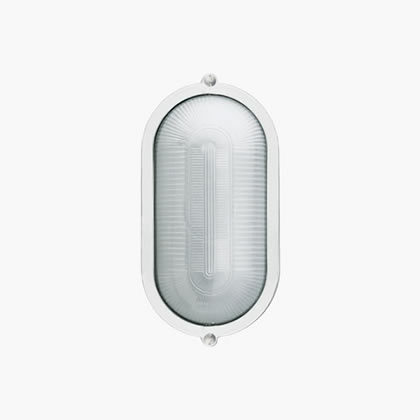 Plafoniere Wall Lamp oval with ring A60 60w Black