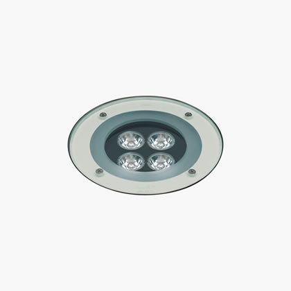 Plano Recessed suelo 4 Accent LED 6000k 6w 22ú