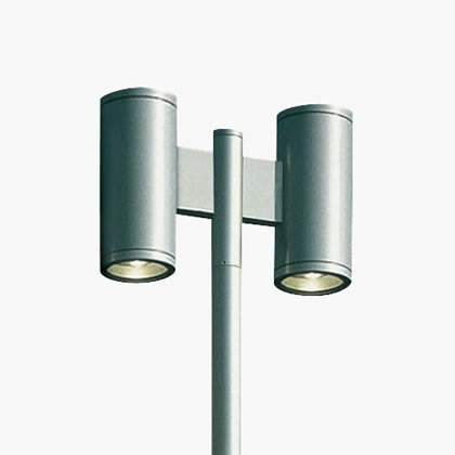 Slot Palo Doppio 2 X 18 Accent LED 4200k 40w 230v gris Aluminio