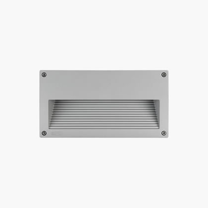 Eos Recessed wall rectangular Tc-d 26w Grey Aluminium