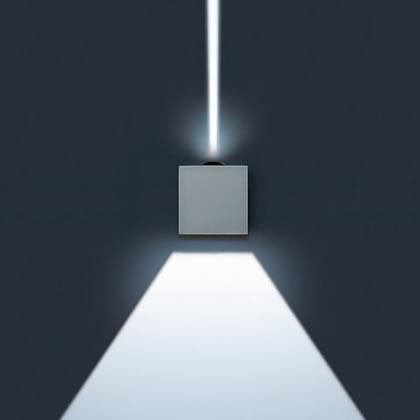 Lift Applique Quadrata Hit tc Cri 35w 1 fascio estrecho 1 fascio lungo Corten